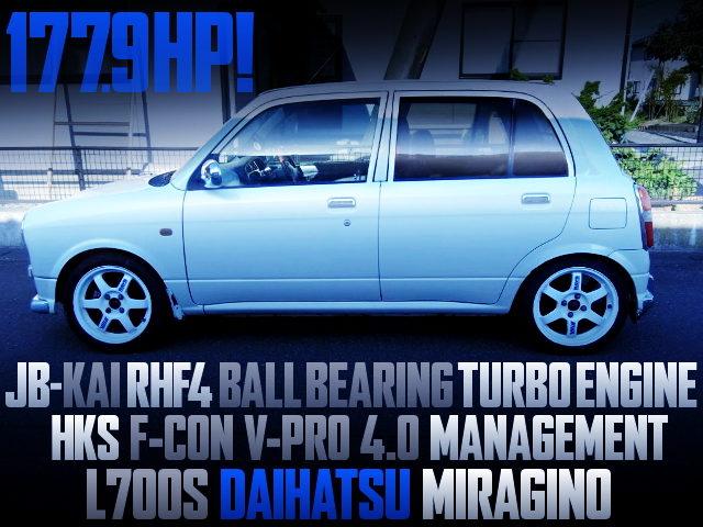 JB RHF4 TURBO ENGINE L700S MIRAGINO