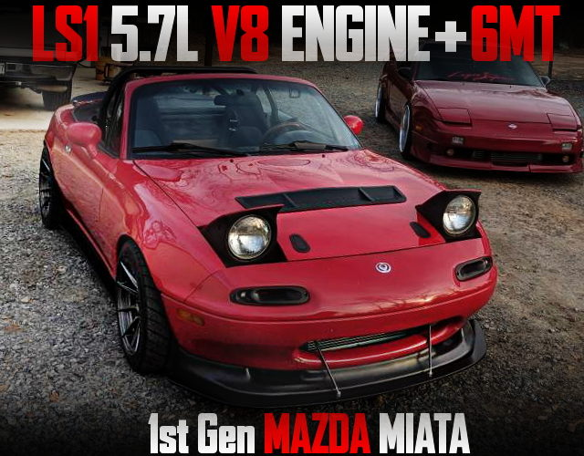 LS1 5700cc V8 ENGINE AND T56 6MT SWAPPED 1st Gen MAZDA MIATA