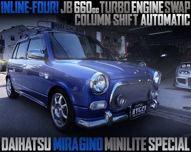 JB 660cc INLINE-FOUR TURBO ENGINE SWAPPED L700S MIRAGINO MINILITE SPECIAL