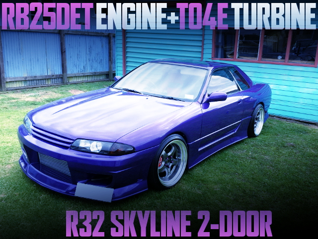 RB25DET AND TO4E BLUID FOR R32 SKYLINE 2-DOOR PURPLE