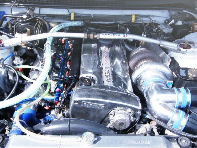 CHROME COLOR RB26 SINGLE TURBO ENGINE