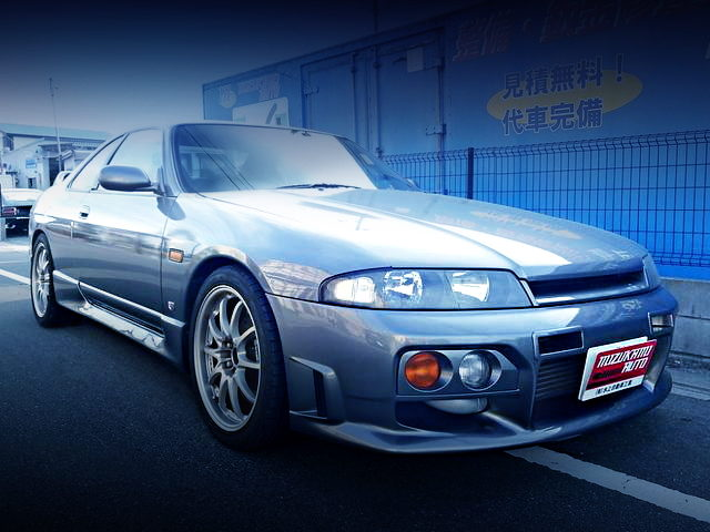 FRONT FACE R33 SKYLINE 2-DOOR SILVER