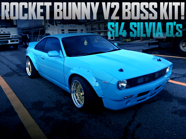 ROCKET BUNNY V2 BOSS KIT INSTALLED S14 SILVIA qs