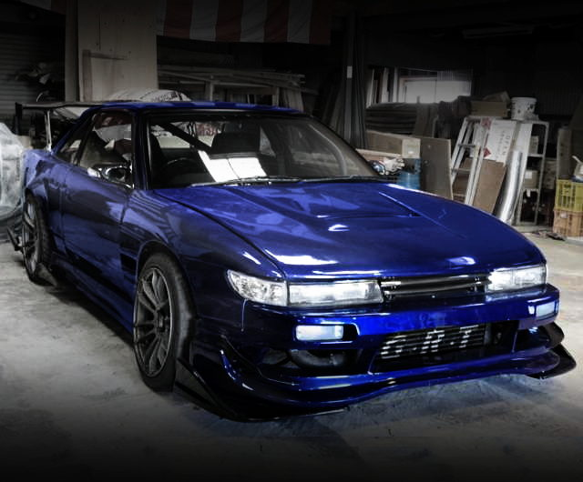 FRONT EXTERIOR S13 SILVIA BLUE