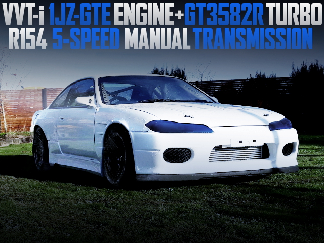 1JZ-GTE TURBO ENGINE AND S15 FRONT END WITH S14 SILVIA