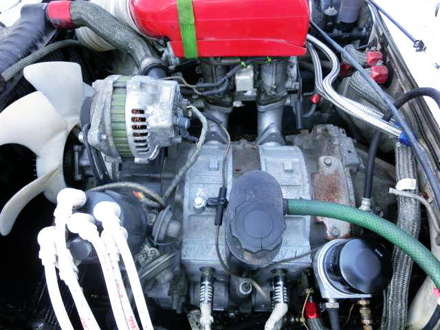 13B PERIPHERAL PORT ROTARY ENGINE WITH CARB