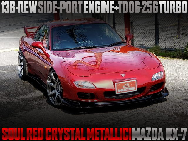 SOUL RED CRYSTAL METALLIC PAINT OF MAZDA RX-7