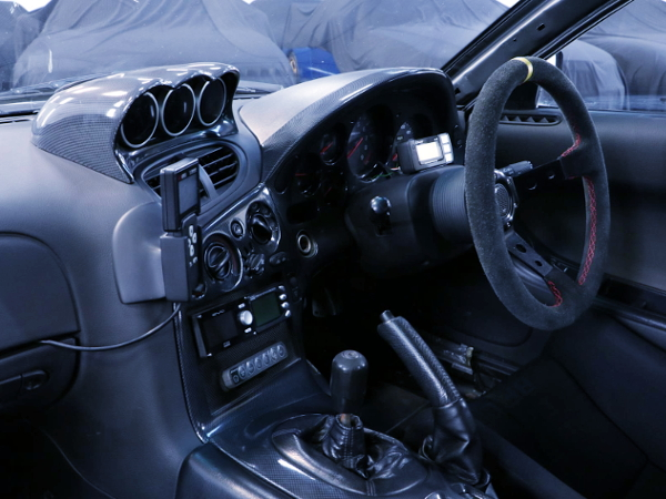 INTERIOR DRIVER POSITION OF DASHBOARD