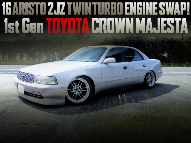 16 ARISTO 2JZ TWINTURBO ENGINE SWAPPED 1st Gen CROWN MAJESTA