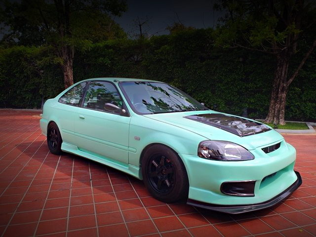 FRONT EXTERIOR TIFFANY BLUE PAINT OF 2nd Gen CIVIC COUPE
