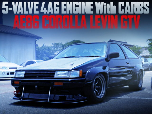 5V 4AG With CARBS INTO AE86 LEVIN GTV TRD WIDEBODY