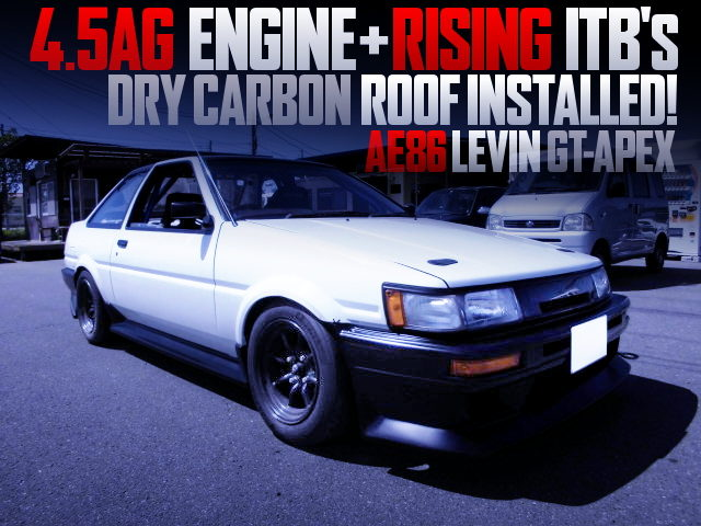 45AG ENGINE WITH RISING ITB INTO AE86 LEVIN GT-APEX