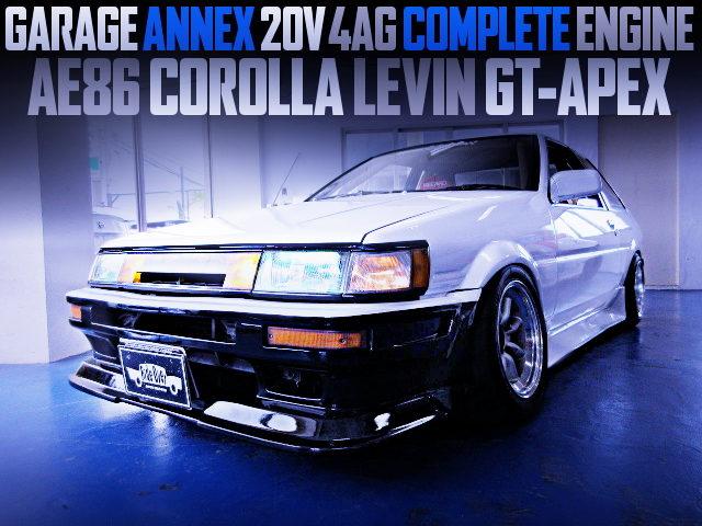 GARAGE ANNEX 4AG COMPLETE ENGINE INTO AE86 LEVIN GT-APEX