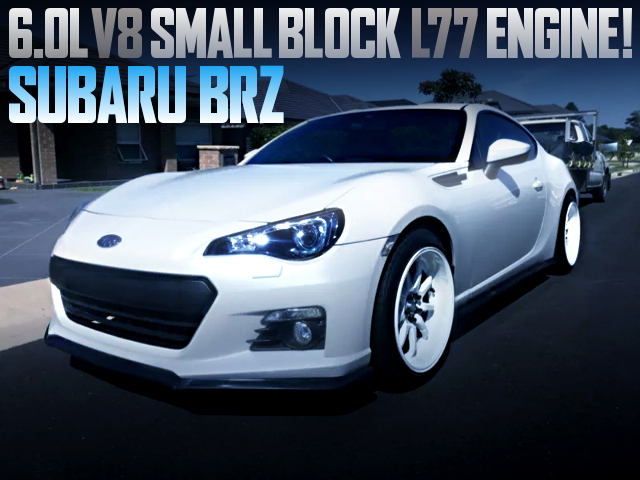 L77 6000cc V8 ENGINE SWAPPED SUBARU BRZ