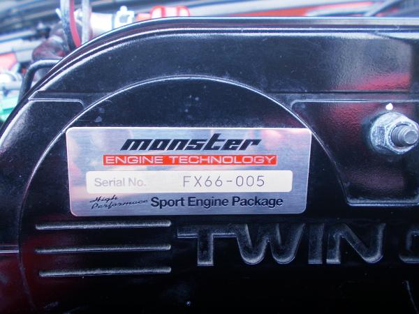 MONSTER SPORT ENGINE SERIAL PLATE