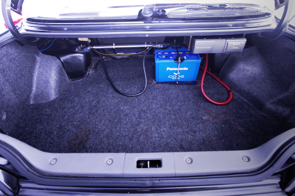 BATTERY RELOCATE FOR TRUNK ROOM