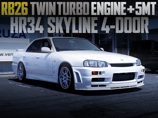 RB26 ENGINE SWAP HR34 SKYLINE 4-DOOR