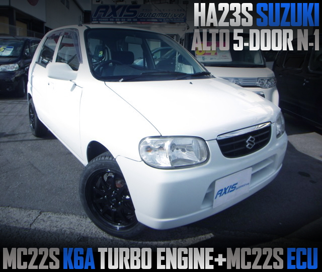 MC22S K6A TURBO ENGINE AND ECU SWAPPED HA23S ALTO N-1
