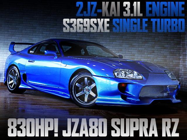2JZ 3100cc AND S369SXE SINGLE TURBO WITH JZA80 SUPRA RZ