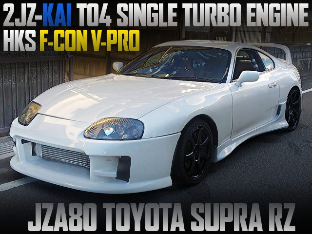 2JZ-GTE SINGLE TURBO ENGINE INTO JZA80 SUPRA RZ