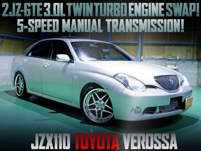 2JZ TWINTURBO ENGINE SWAPPED JZX110 VEROSSA
