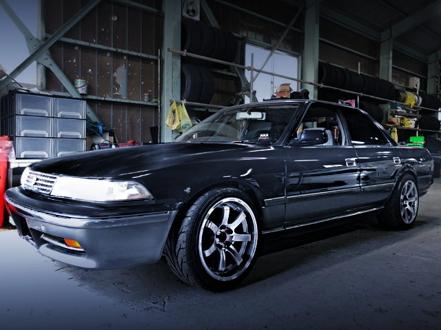 FRONT EXTERIOR JZX81 MARK2 BLACK AND SILVER TWO TONE