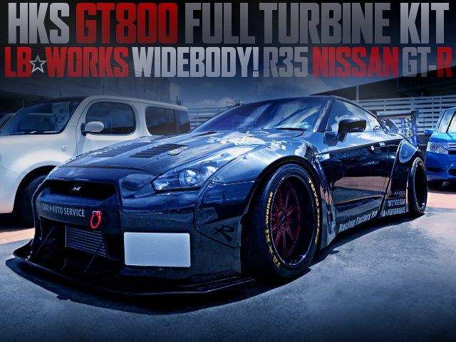 HKS GT800 FULL TURBINE AND LB-WORKS WITH R35 GT-R