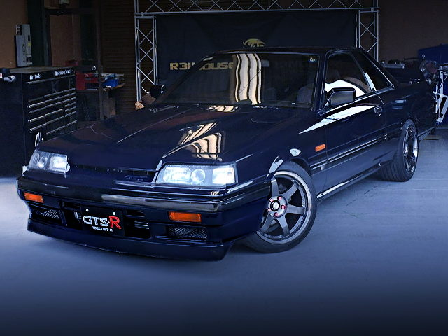 FRONT EXTERIOR R31 SKYLINE GTS-R BLUE BLACK COLOR