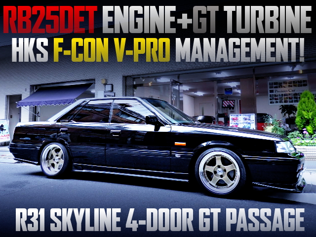 RB25DET TURBO ENGINE SWAPPED R31 SKYLINE 4-DOOR GT PASSAGE