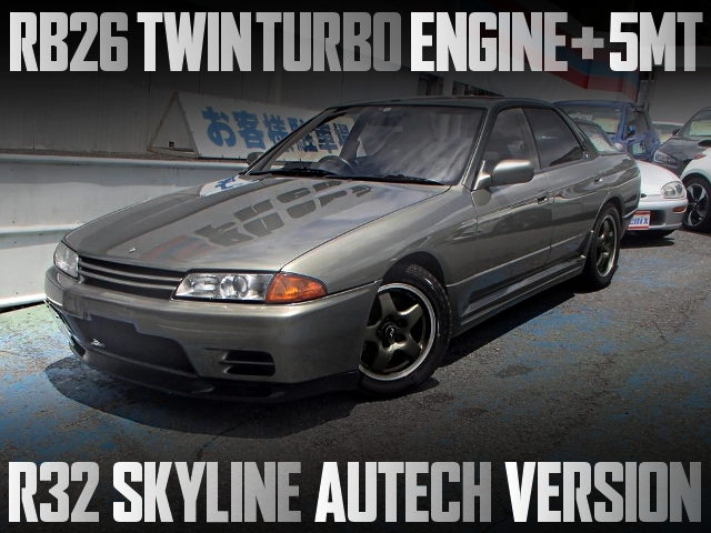 RB26 TWINTURBO AND 5MT SWAPPED R32 SKYLINE AUTECH VERSION