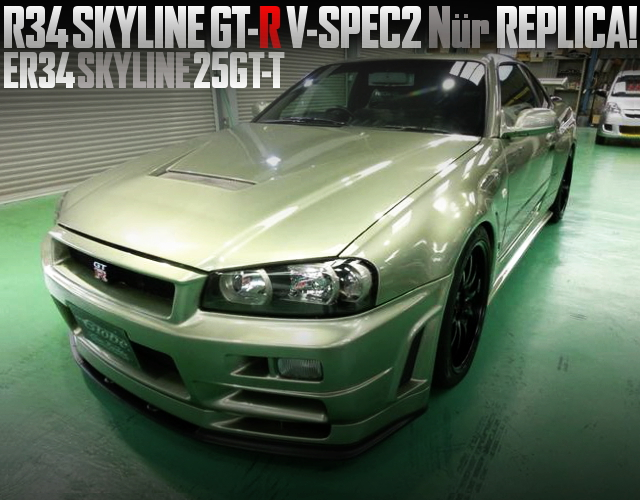 R34 GTR VSPEC2 NUR REPLICA OF ER34 SKYLINE 25GTT