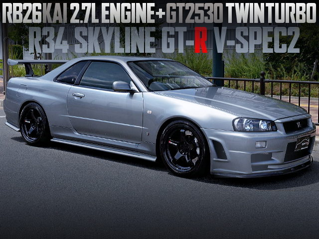 RB26 2700cc AND GT2530 TWINTURBO INTO A R34 GT-R VSPEC2