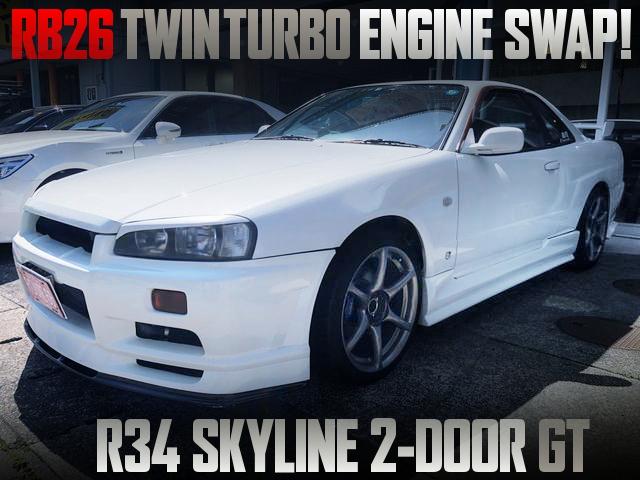 RB26 TWINTURBO ENGINE SWAPPED 10th Gen R34 SKYLINE 2-DOOR GT