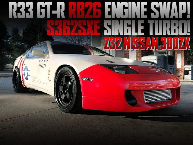 R33GTR RB26 SINGLE TURBO SWAPPED Z32 300ZX