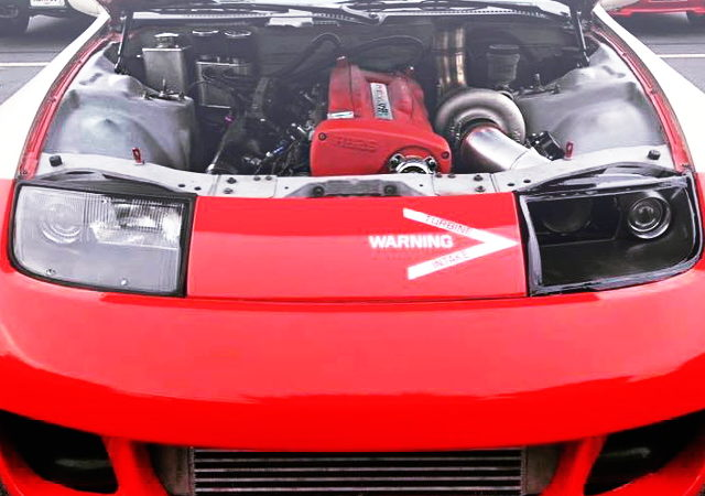 RB26 SINGLE TURBO ENGINE RED COLOR