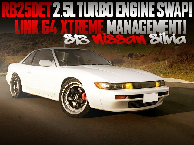 RB25DET TURBO ENGINE SWAPPED S13 SILVIA