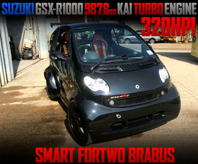 TURBOCHARGED GSX-R1000 MOTOR SWAPPED SMART FORTWO BRABUS