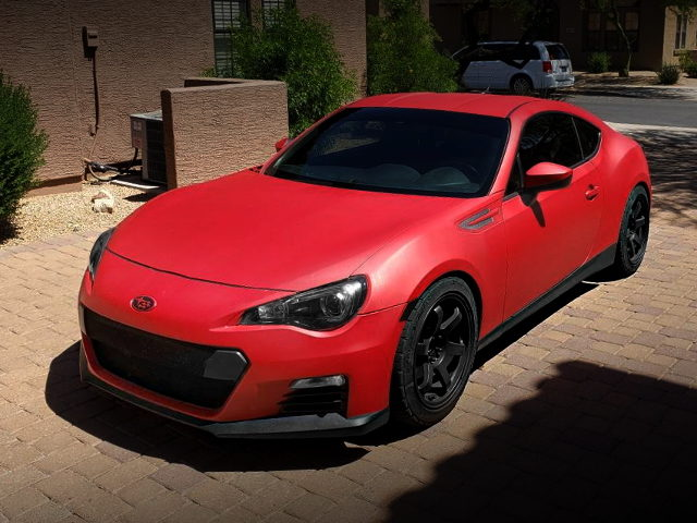 FRONT EXTERIOR SUBARU BRZ OF RED COLOR