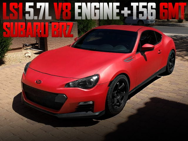 LS1 5700cc V8 ENGINE AND T56 6MT SWAPPED SUBARU BRZ