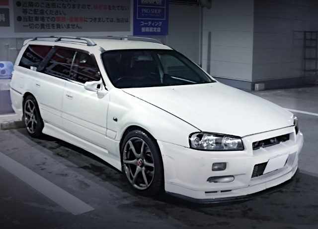 FRONT EXTERIOR R34 GTR FACE TO WC34 STAGEA