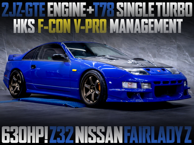 2JZ T78 SINGLE TURBO ENGINE OF A Z32 FAIRLADY-Z