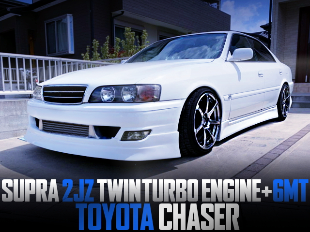 80SUPRA 2JZ TWINTURBO ENGINE AND 6MT SWAPPED 100 CHASER