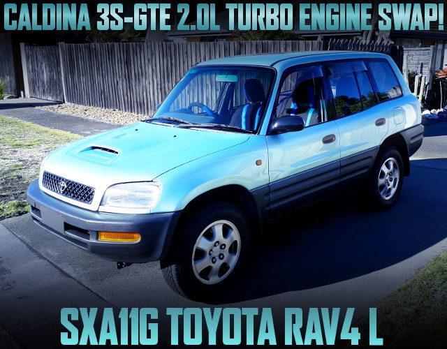 CALDINA 3S-GTE TURBO ENGINE SWAPPED SXA11G TOYOTA RAV4 L