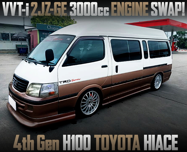 2JZ-GE 3000cc ENGINE SWAPPED H100 HIACE