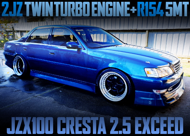 2JZ TWINTURBO ENGINE AND 5MT SWAPPED JZX100 CRESTA 25 EXCEED