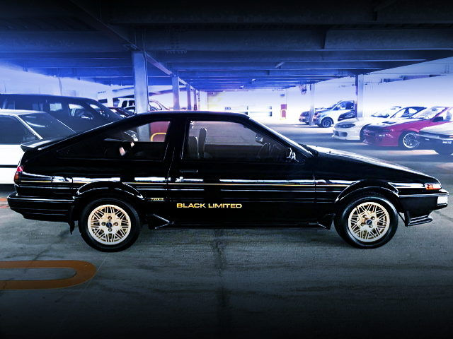 RIGHT-SIDE EXTERIOR FOR AE86 TRUENO BLACK LIMITED
