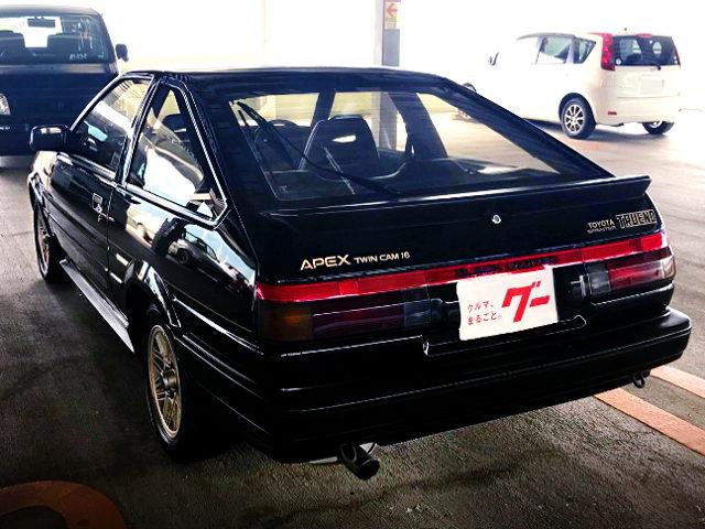 REAR EXTERIOR AE86 TRUENO BLACK LIMITED