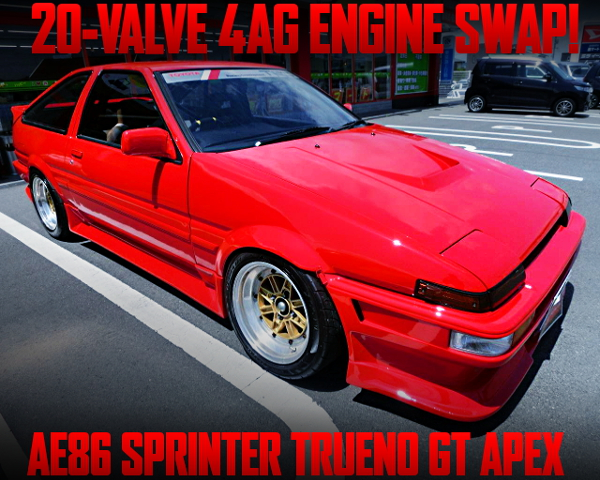20V 4AG SWAPPED AE86 TRUENO GT APEX RED COLOR