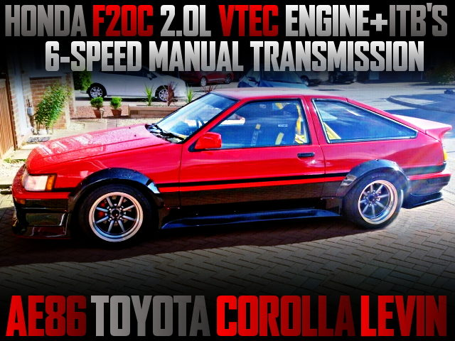 F20C VTEC ENGINE WITH ITBs INTO AE86 COROLLA LEVIN 3-DOOR