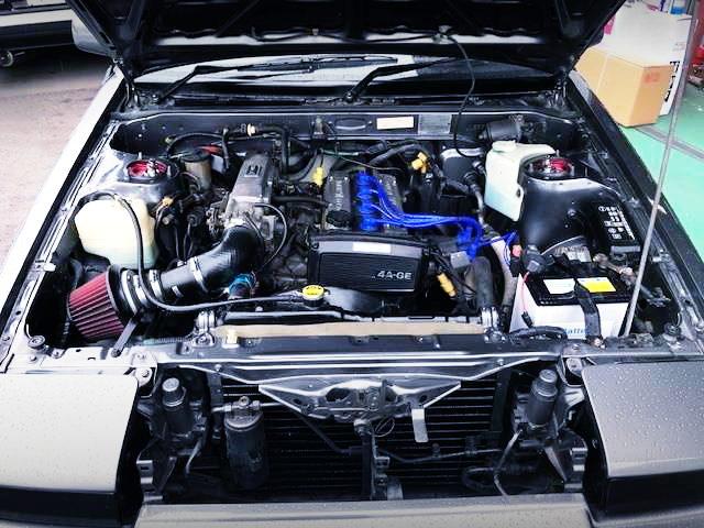 16VALVE 4AGE ENGINE OF AE86 ENGINE ROOM